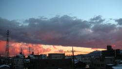 大山方面の夕景